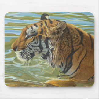 """Afternoon Swim"" Tiger - Mouse Pad"