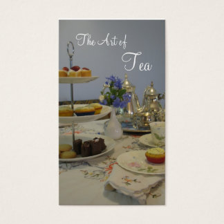 afternoon tea caterer business card