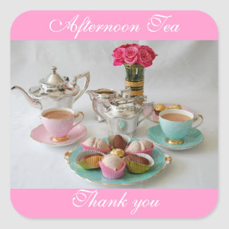 Afternoon Tea Favour or Shop Stickers