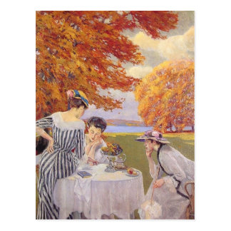 Afternoon tea in the park postcard