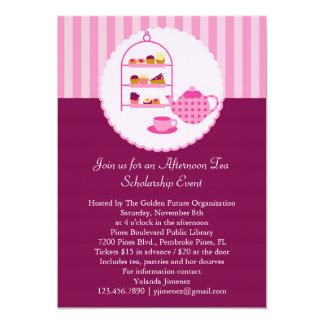 """Afternoon Tea Invitation 5"""" X 7"""" Invitation Card"""