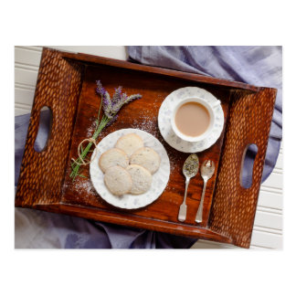 Afternoon Tea with Lavender Shortbread Postcard