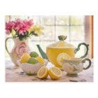 Afternoon Tea with Lemon beautiful photo postcard