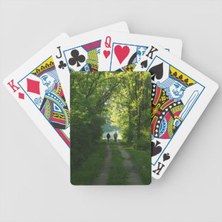 Afternoon Walk Bicycle Playing Cards