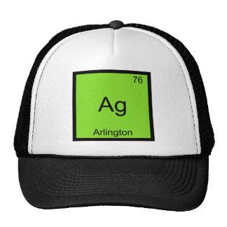 Ag - Arlington City Chemistry Element Symbol Tee Trucker Hat