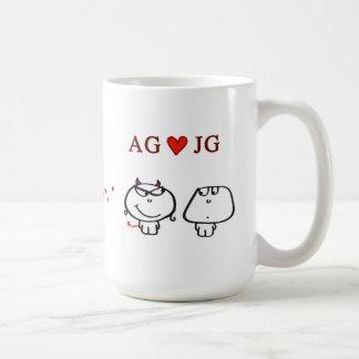 """""""AG heart JG"""" Basic White Mug"""