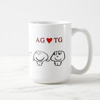 """""""AG heart TG"""" Mugs"""