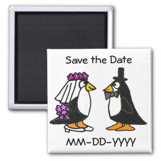 AG- Penguin Save the Date Magnets