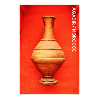 agadir morocco medina wood vase jar folk islamic b photo print