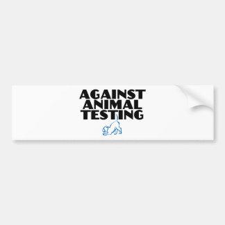 Against Animal Testing Bumper Sticker
