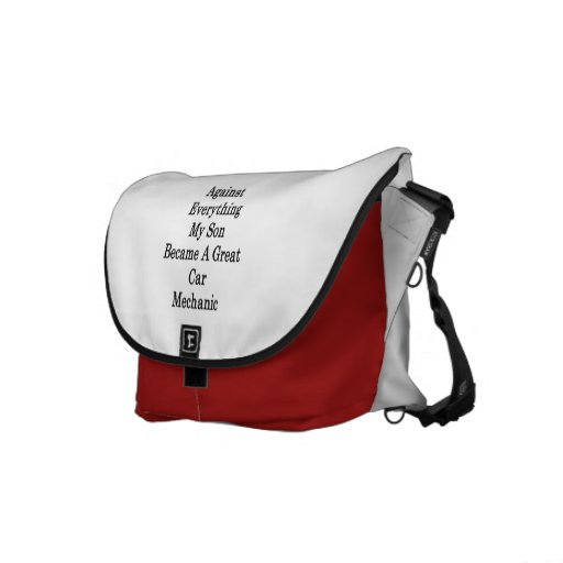 Against Everything My Son Became A Great Car Mecha Messenger Bag