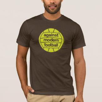 Against Modern Football (Brown/Lime) T-Shirt
