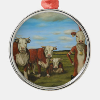 Against The Herd Metal Ornament
