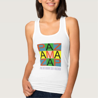 Against violence tank top