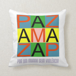 Against violence throw pillow