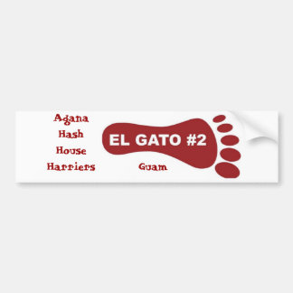Agana Hash House Harriers, Guam Bumper Sticker