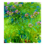 Agapanthus by Claude Monet Poster
