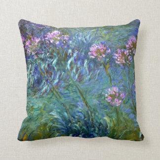 Agapanthus Claude Monet Fine Art Throw Pillow