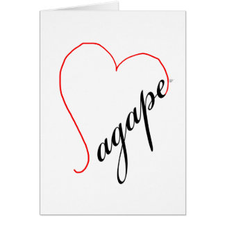 Agape (black) Note Card