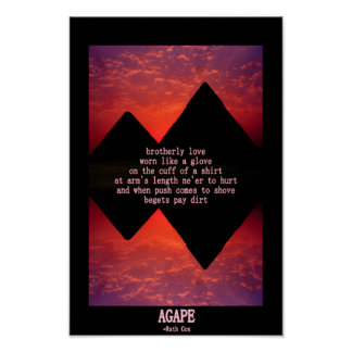 AGAPE Brotherly Love Poster