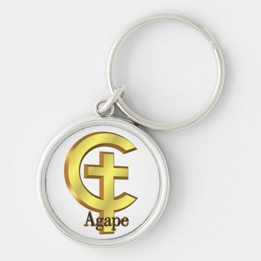 Agape Christian Cross Keychain