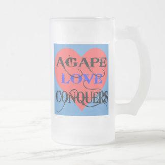 Agape Frosted Glass Beer Mug