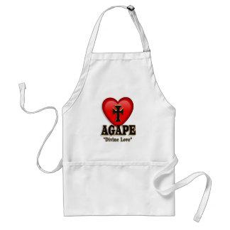 Agape heart apron symbol for God's divine love