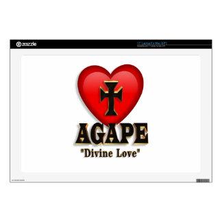 Agape heart  Laptop Decals