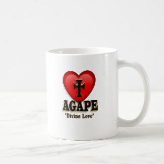 Agape heart symbol for God's divine love Classic White Coffee Mug