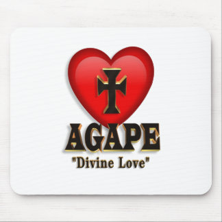 Agape heart symbol for God's divine love Mouse Pad