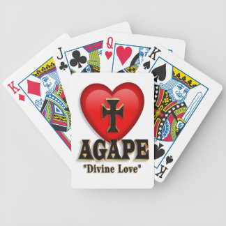 Agape heart symbol for God's divine love Poker Cards