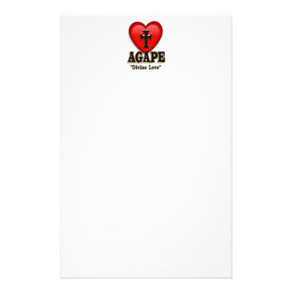Agape heart symbol for God's divine love Stationery
