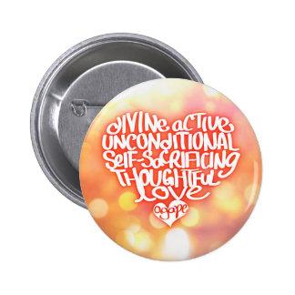 Agape Love 2 Inch Round Button