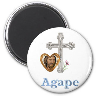 Agape Love Christian gifts 2 Inch Round Magnet