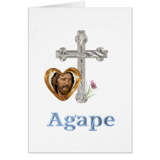 Agape Love Christian gifts Greeting Card