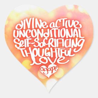 Agape Love Heart Sticker