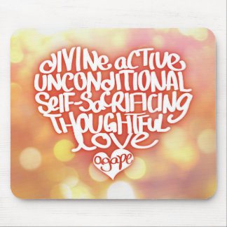 Agape Love Mouse Pad