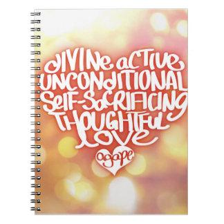 Agape Love Note Book