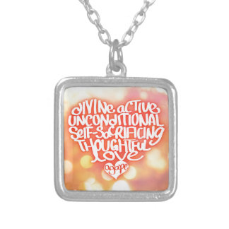 Agape Love Silver Plated Necklace