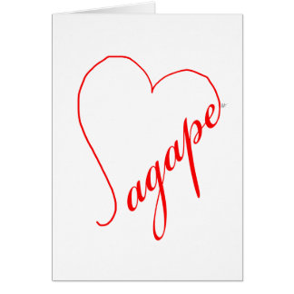 Agape (red) Note Car Greeting Card