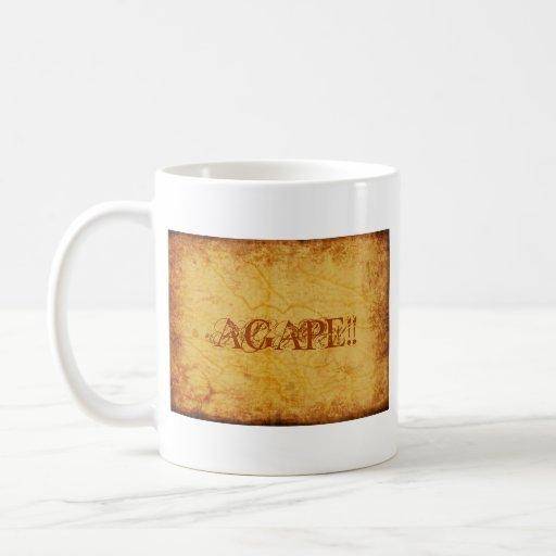 AGAPE!!... RELIGIOUS CUP CLASSIC WHITE COFFEE MUG