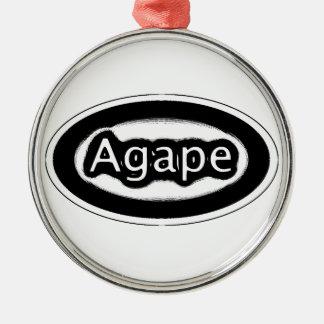 agape Silver-Colored round ornament