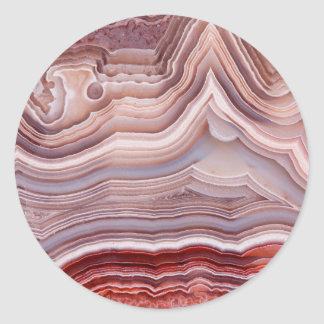 Agate crystal classic round sticker