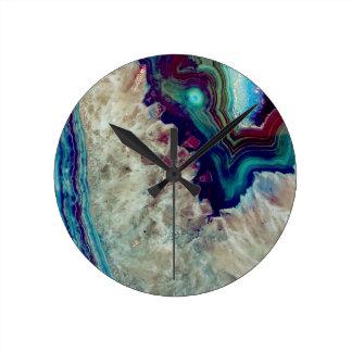Agate multicolor wallclock
