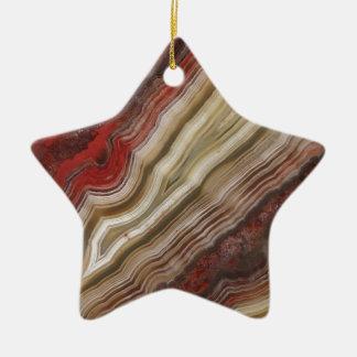Agate Pattern Ceramic Star Ornament