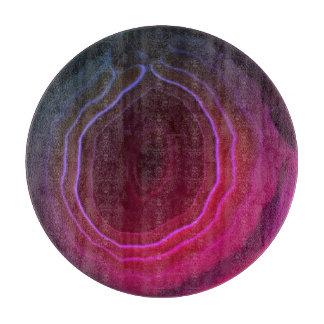 Agate slice magenta pink unusual modern chopping boards