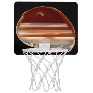 Agate Slice Photo on Black Background Mini Basketball Hoop