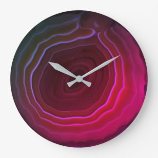 Agate slice pink original unique modern style large clock