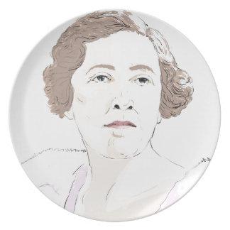 Agatha Christie Plate