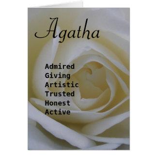 Agatha Greeting Card